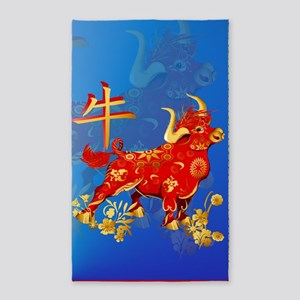 Year Of The Ox 3'x5' Area Rug