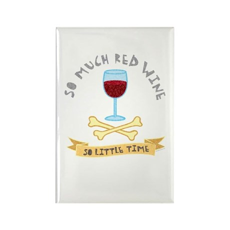 Red Wine Tasting Rectangle Magnet