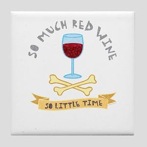 Red Wine Tasting Tile Coaster