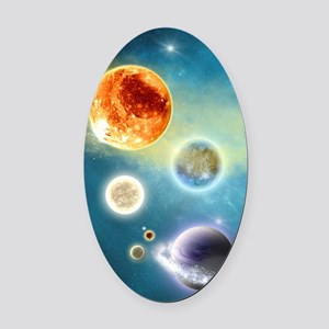 New Solar System Oval Car Magnet