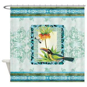 Botanical Bird Shower Curtains