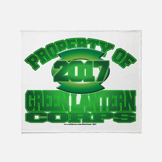 Proprety of GReen Lantern Corps Throw Blanket