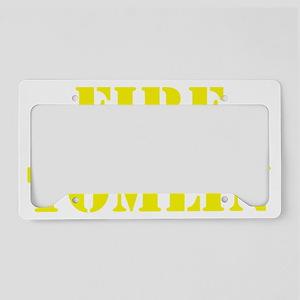 FIRE TOMLIN License Plate Holder