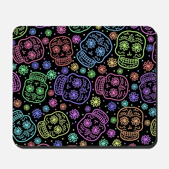 Day Of The Dead Pattern Mousepad