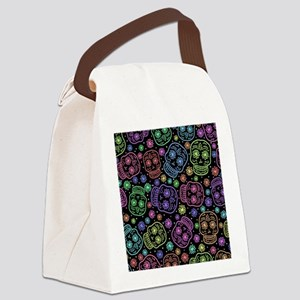 Day Of The Dead Pattern Canvas Lunch Bag