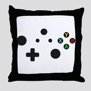 X Box Controller Throw Pillow