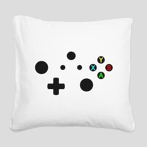 X Box Controller Square Canvas Pillow