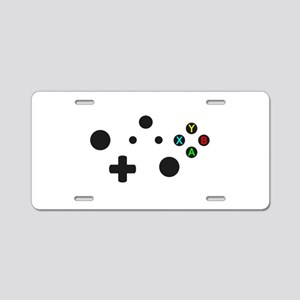 X Box Controller Aluminum License Plate
