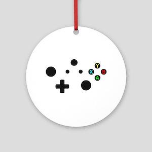 X Box Controller Round Ornament