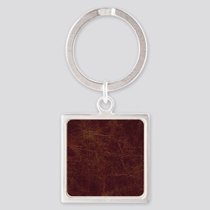 Wild West Leather 1 Square Keychain