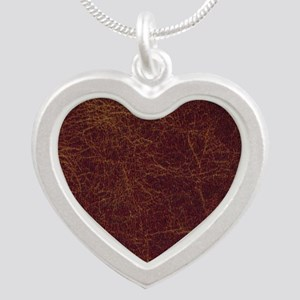 Wild West Leather 1 Silver Heart Necklace