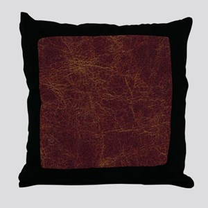 Wild West Leather 1 Throw Pillow