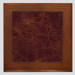 Wild West Leather 1 Framed Tile