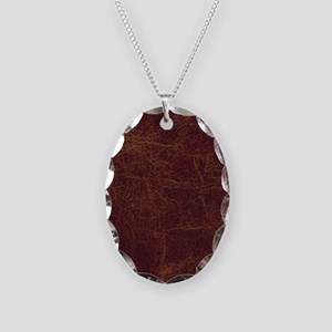 Wild West Leather 1 Necklace Oval Charm