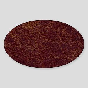 Wild West Leather 1 Sticker (Oval)