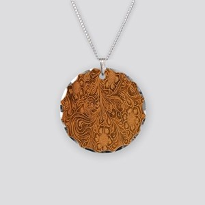 Wild West Texture 2 Necklace Circle Charm