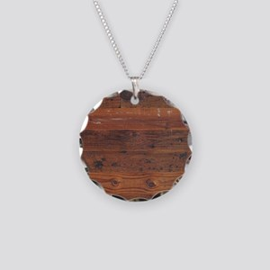 Wild West Plank  1 B Necklace Circle Charm