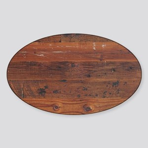 Wild West Plank  1 B Sticker (Oval)