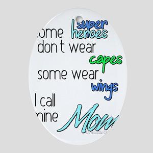 Superhero Mom Oval Ornament