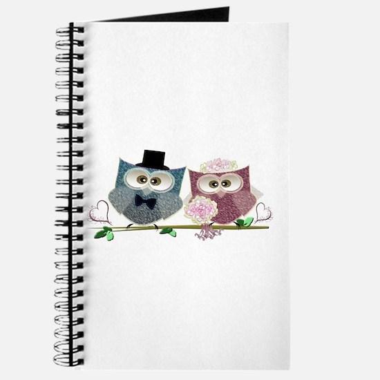 Wedding Owls Art Journal