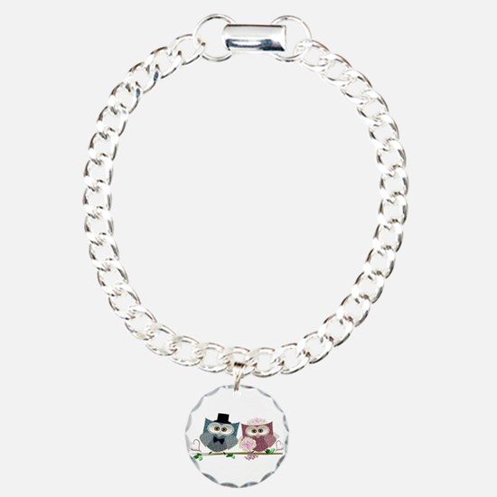 Wedding Owls Art Bracelet
