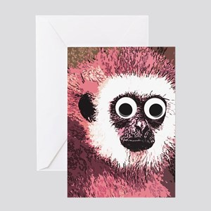 just some monkey business Greeting Card
