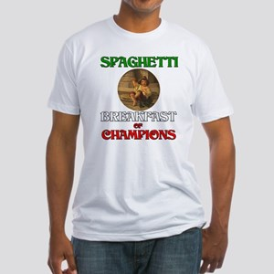 Spaghetti Breakfast of Champi Fitted T-Shirt