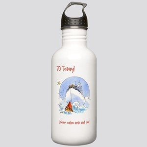 70 today - keep calm a Stainless Water Bottle 1.0L