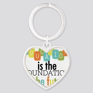 Education is the Foundation of the  Heart Keychain