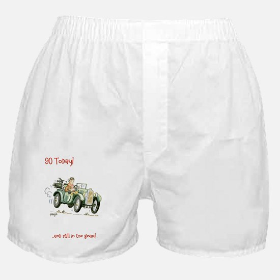 90 today - still in top gear! Boxer Shorts