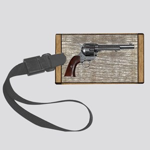 Wild West Pistol 2 19 Large Luggage Tag