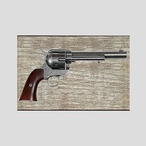 Wild West Pistol 2 19 Rectangle Magnet