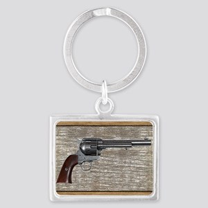Wild West Pistol 2 19 Landscape Keychain