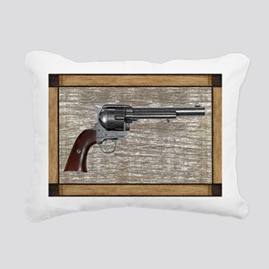 Wild West Pistol 2 19 Rectangular Canvas Pillow