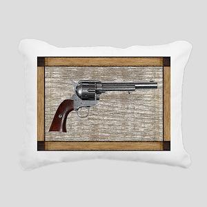 Wild West Pistol 2 19 Rectangular Canvas Pillow