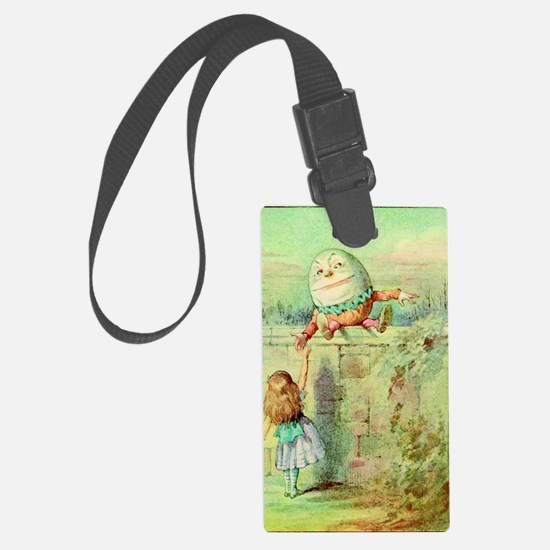 Alice and Humpty Dumpty color il Luggage Tag