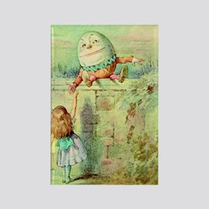 Alice and Humpty Dumpty color ill Rectangle Magnet