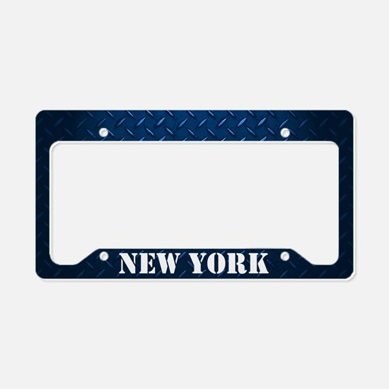 New York Diamond Plate License Plate Holder