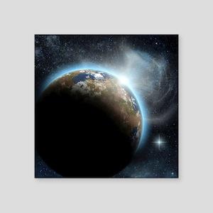 """The Earth Square Sticker 3"""" x 3"""""""