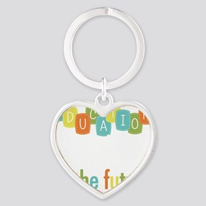Education is the Foundation Heart Keychain