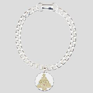 Buon Natale Charm Bracelet, One Charm
