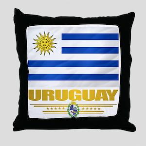 Uruguay Flag Throw Pillow