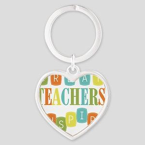 Great Teachers Inspire Heart Keychain