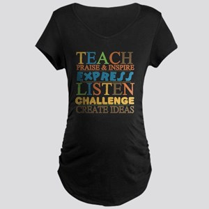 Teacher Creed Maternity Dark T-Shirt