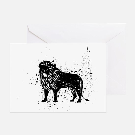 Spotted Lion Greeting Card