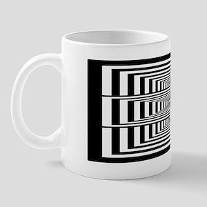 Optical Illusion Rectangles Mug