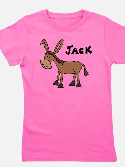 Funny Donkey Named Jack Girl's Tee