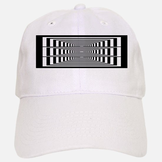 Optical Illusion Rectangles Baseball Baseball Cap