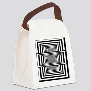 Optical Illusion Rectangles Canvas Lunch Bag