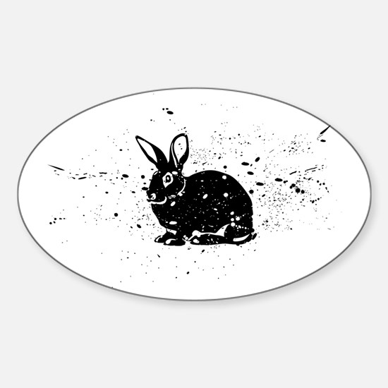 Spotted Rabbit Sticker (Oval)